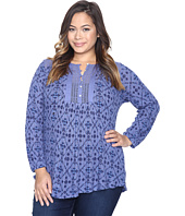 Lucky Brand - Plus Size Printed Drop Needle Knit Top