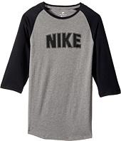 Nike Kids - Sportswear Raglan 3/4 Sleeve T-Shirt (Little Kids/Big Kids)