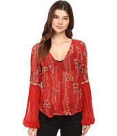 Free People - Viscose Gorgette Firecracker Embellished Top