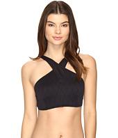 Vince Camuto - Tahiti Texture Wrap High Neck Bikini Top