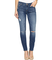 7 For All Mankind - The Ankle Skinny w/ Destroy in Barrier Reef Broken Twill