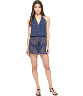 MICHAEL Michael Kors - Summer Breeze Halter Romper Cover-Up