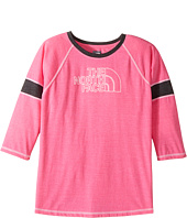 The North Face Kids - 3/4 Sleeve Tri-Blend Tee (Little Kids/Big Kids)