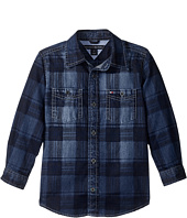 Tommy Hilfiger Kids - Maxwell Printed Denim Shirt (Toddler/Little Kids)