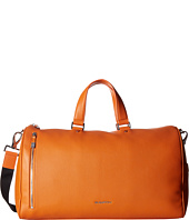 BUGATCHI - Pebble Leather Full Grain Leather Weekender Duffel Bag