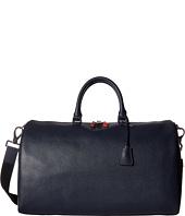 BUGATCHI - Semi Embossed Leather Weekender Duffel Bag