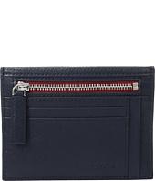 BUGATCHI - Saffiano Two-Tone Zip Card Case