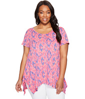 Extra Fresh by Fresh Produce - Plus Size Sunset Sky Vintage Drape Tee