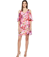 Maggy London - Hot House Peony Cold Shoulder Chiffon Shift Dress