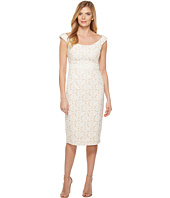 Maggy London - Natural Bloom Jacquard Sheath Dress