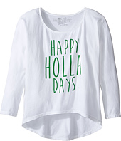 The Original Retro Brand Kids - Happy Holla Days 3/4 Dolman Tee (Little Kids/Big Kids)