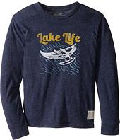The Original Retro Brand Kids - Lake Life Long Sleeve Tri-Blend Tee (Big Kids)