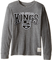 The Original Retro Brand Kids - Long Sleeve Tri-Blend La Kings NHL Tee (Big Kids)