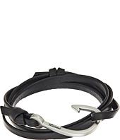 Miansai - Silver Hook on Leather Bracelet