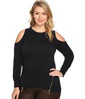 MICHAEL Michael Kors - Plus Size Cold Shoulder Zip Sweater
