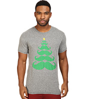 The Original Retro Brand - Mustache X Mas Tree Short Sleeve Tri-Blend Tee