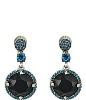 Oscar de la Renta - Pave Rounder Crystal P Earrings