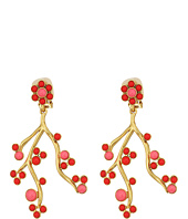Oscar de la Renta - Cabochon and Crystal Vine C Earrings