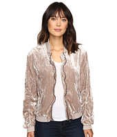 Free People - Ruched Velvet Bomber Jacket