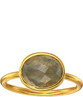 Dee Berkley - Single Oval Stone Adjustable Ring Labradorite