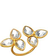 Dee Berkley - Gemstone Flower Ring Clear Quartz
