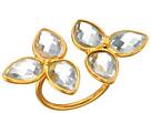Gemstone Flower Ring Clear Quartz