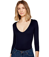Only Hearts - Delicious 3/4 Sleeve V-Neck Bodysuit