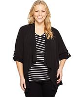 Calvin Klein Plus - Plus Size Roll Sleeve Open Flyaway Jacket