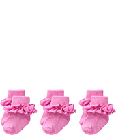 Jefferies Socks - Misty Ruffle Turn Cuff 3 Pack (Infant/Toddler/Little Kid/Big Kid)