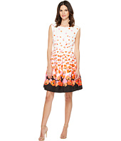 Tahari by ASL - Floral Jacquard Fit & Flare Dress