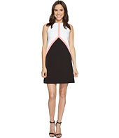 Tahari by ASL - Color Block Crepe Trapeze Dress