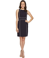 Tahari by ASL - Sheath Dress with Contrast Piping
