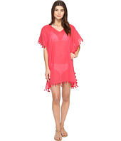 San Diego Hat Company - BST1710 V-Neck Cotton Tunic w/ Tassels
