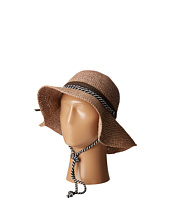 San Diego Hat Company - RHM6008 Crochet Raffia Striped Chin Hat