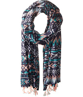 San Diego Hat Company - BSS1717 Woven Abstract All Over Print Scarf with Tassels