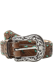 M&F Western - Turquoise Underlay Floral Belt
