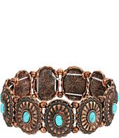 M&F Western - Western Concho Turquoise Bracelet