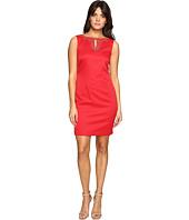 Ellen Tracy - Pique Dress w/ Neckline Embellishment