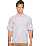 Vince - Deep Pleat Boxy Fit Short Sleeve Pinstripe Button Up