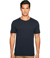 Vince - Reverse Hem Cotton-Modal Short Sleeve Crew