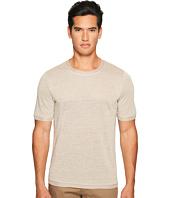 Vince - Linen Short Sleeve Crew Neck Trimmed Sweater