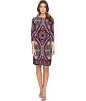 London Times - Disc Wheel 3/4 Sleeve Sheath Dress