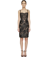 Marchesa Notte - All Over Embroidered Bustier Cocktail Dress