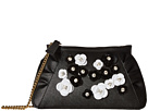 Embellished Floral Clutch with Chain