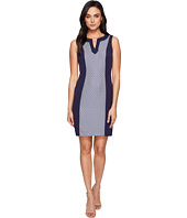 Tahari by ASL - Jacquard Inset Sleeveless Sheath