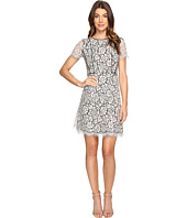 Jessica Simpson - Two-Tone Floral Lace Fit and Flare