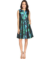 Christin Michaels - Aurora Brocade Panel Dress
