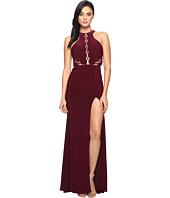 Faviana - Lace-Up Illusion on Jersey 7909