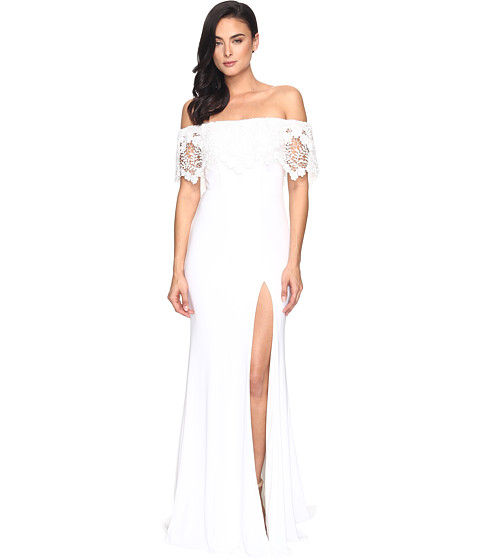 Faviana Jersey Off Shoulder w/ Lace Band S7937
