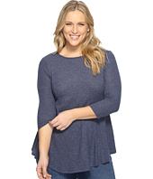B Collection by Bobeau Curvy - Plus Size Brushed Babydoll Hemline Knit
